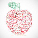 Fototapety Apple made of school symbols