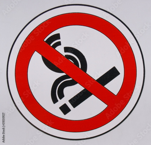 Знак Запрещено Курить