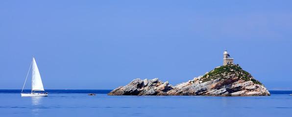 Scoglietto con Faro ( Isola D'Elba )