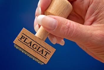 Plagiat - Stempel mit Hand