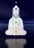 Buddha and chakras poster
