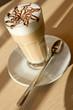 cafe latte in restoran