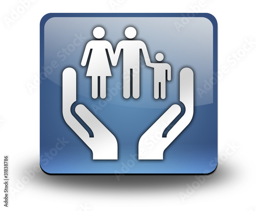 "3D Effect Icon ""Social Services"""