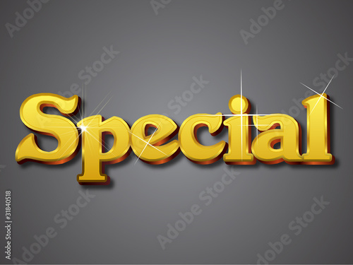 special emboss gold text effect