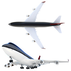 3d passanger plane collection