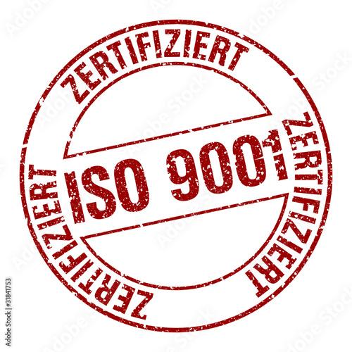 Stempel - ISO 9001 Zertifiziert (Freigestellt)