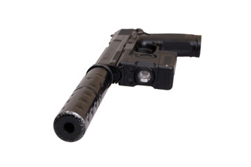 special operation handgun with silencer