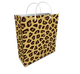 Leopard print shopping bag