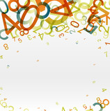 Fototapety Abstract background with colorful rainbow numbers