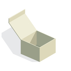 isolated paper box with shadow - illustration