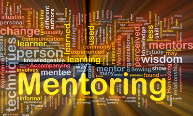 Mentoring background concept