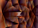 polygon abstract background - illustration poster