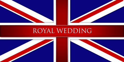 Royal Wedding England Flage