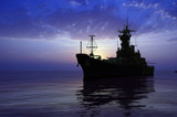 The military ship