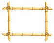 wooden frame of bamboo sticks