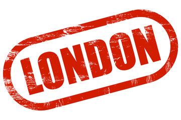 Grunge Stempel rot LONDON