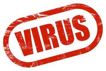 Grunge Stempel rot VIRUS