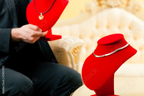 Shop assistant at the jeweller