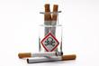 zigaretten im glas