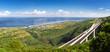 """Pont de la """"Route des Tamarins"""" et côte ouest de La Réunion"""