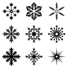 Snowflakes And Stars 01 (Isolated)