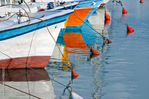 Fishing boats in Old Jaffa, Israel.