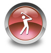 "Red Glossy Pictogram ""Golfing"""