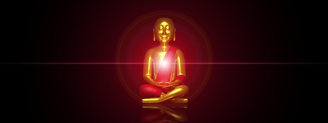 Das rote Licht des Buddhas