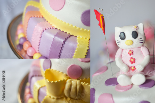Poster hello kitty birthday cake