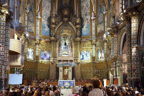 Interior of  Santa Maria de Montserrat