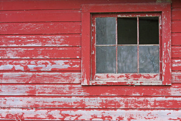 Rustic Barn with Broken Windows