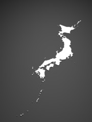 Japanese Islands on black