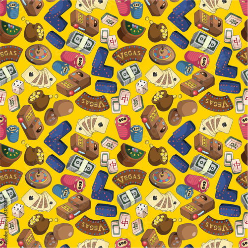 seamless cartoon casion pattern
