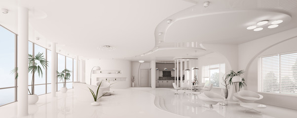 Weiss apartment panorama 3d render