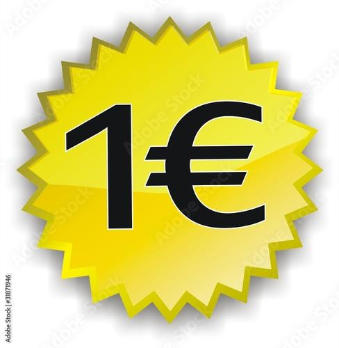 tiquette 1 euro photo libre de droits sur la banque d 39 images image 31871946. Black Bedroom Furniture Sets. Home Design Ideas