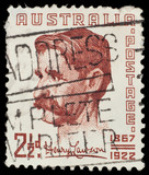 Australian postage stamp: Henry Lawson poster