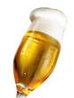 Bierglas breite Krone vor weiss