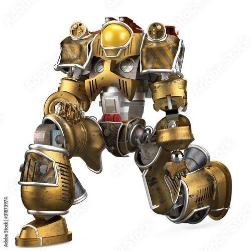 robot soldier kneeling