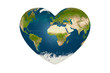 heart in the form of planet earth