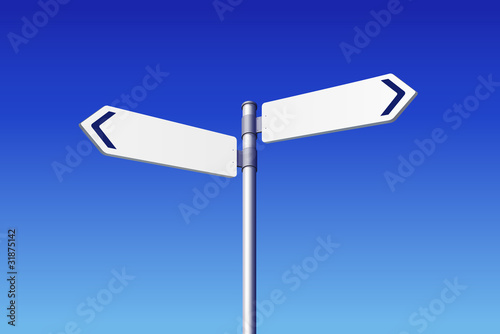 Blank Road Signs Concept