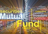 Mutual fund background concept glowing poster