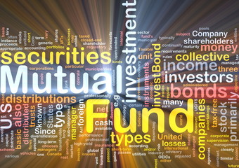 Mutual fund background concept glowing