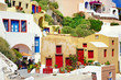 colorful Greece - Santorini architecture