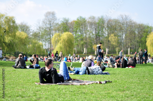 entspannung im park