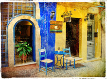 bildlichen alten Straßen von Griechenland - Chania, Kreta