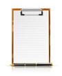 clipboard with pen vector