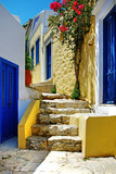 Fototapety colorful Greek islands series - Symi