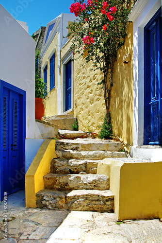 colorful Greek islands series - Symi