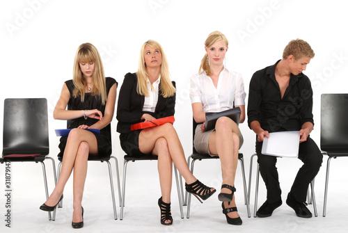 Wartezimmer Bewerbungsgespräch