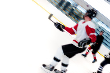 Hockey Players Fast Break